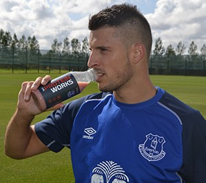 Kevin Mirallas Drinking TPW Recovery Shake