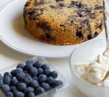Gâteau Whey – Myrtilles