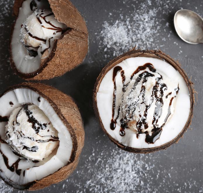 Glace Vegan 'Bounty' au Lait de Coco